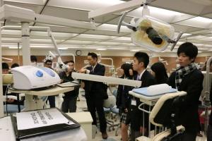 Japanese students touring dental hygiene program photo