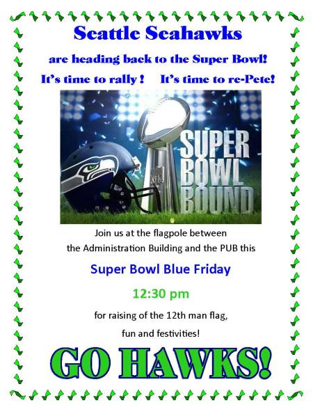 Super Bowl BLue Friday rally