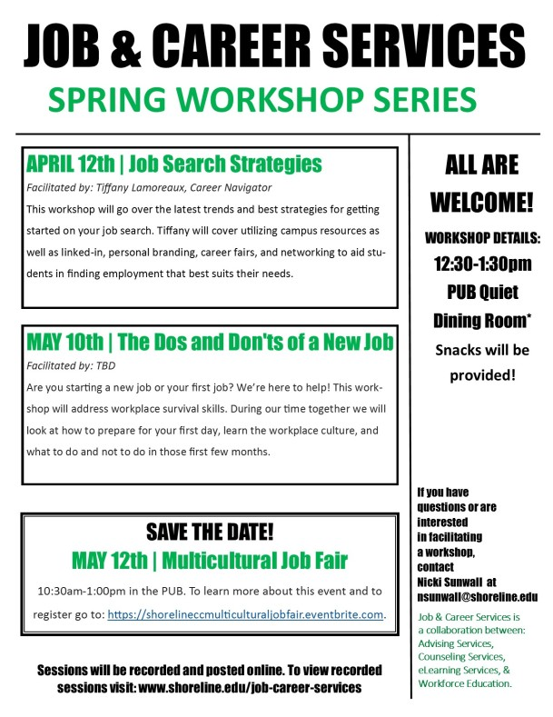 J&CS SPRING WORKSHOPS - 2016