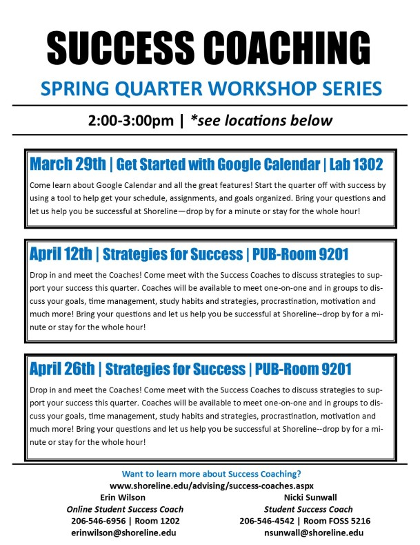 SQ 2016 - Success Coaching Workshop Series - FLYER