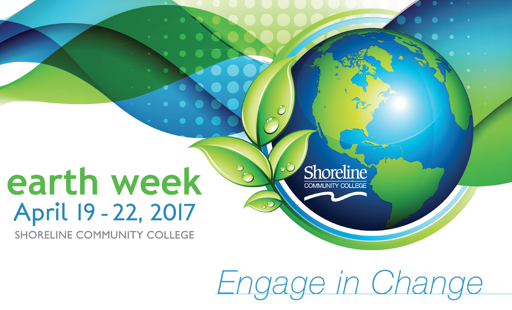 Earth Week 2017 schedule of events – Day at a Glance
