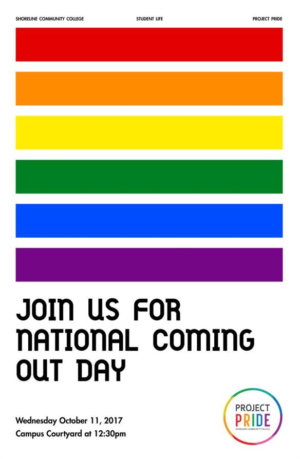 national coming out day celebration wed oct 11 day at a glance