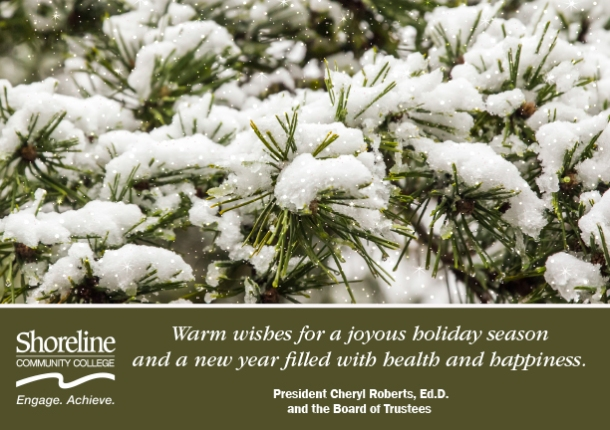 Winter holiday greeting from President Roberts
