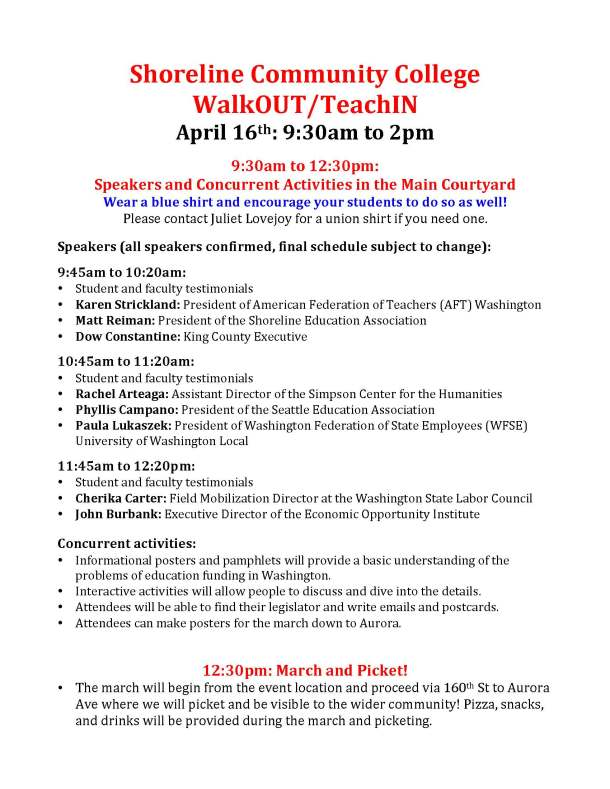walkout events